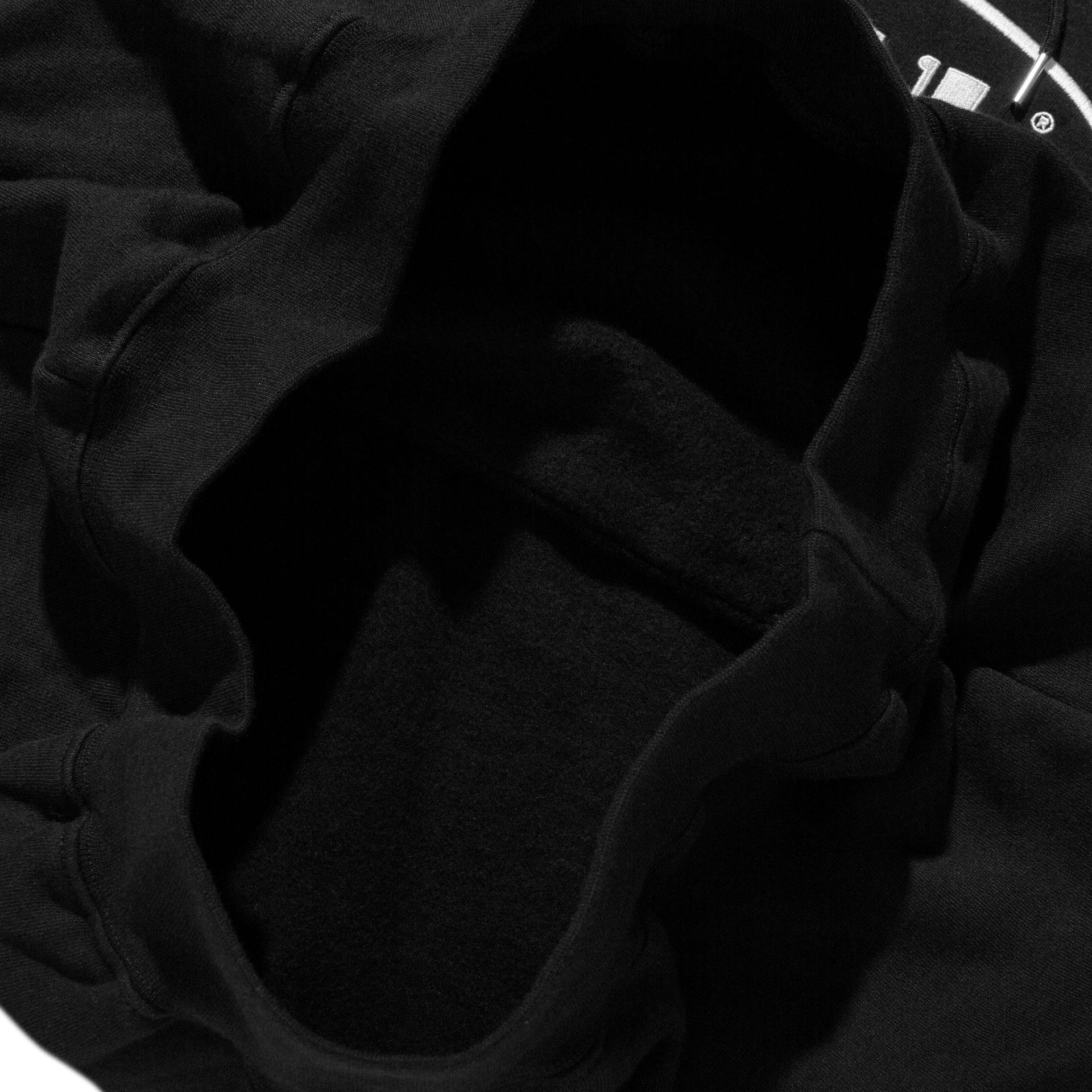 라이풀(LIFUL) OVAL LOGO HOODIE black