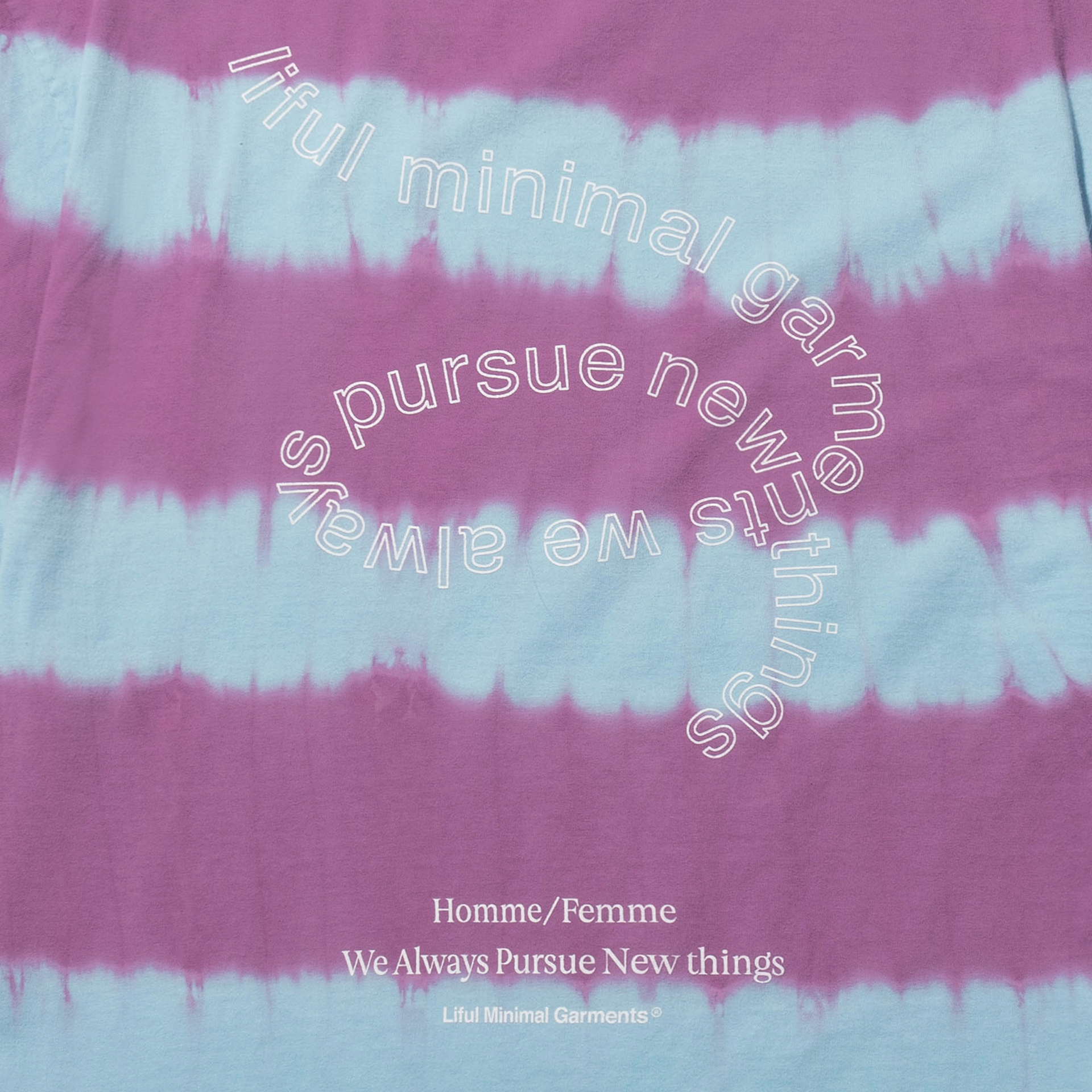 라이풀(LIFUL) STRIPE TIE-DYE TEE pink