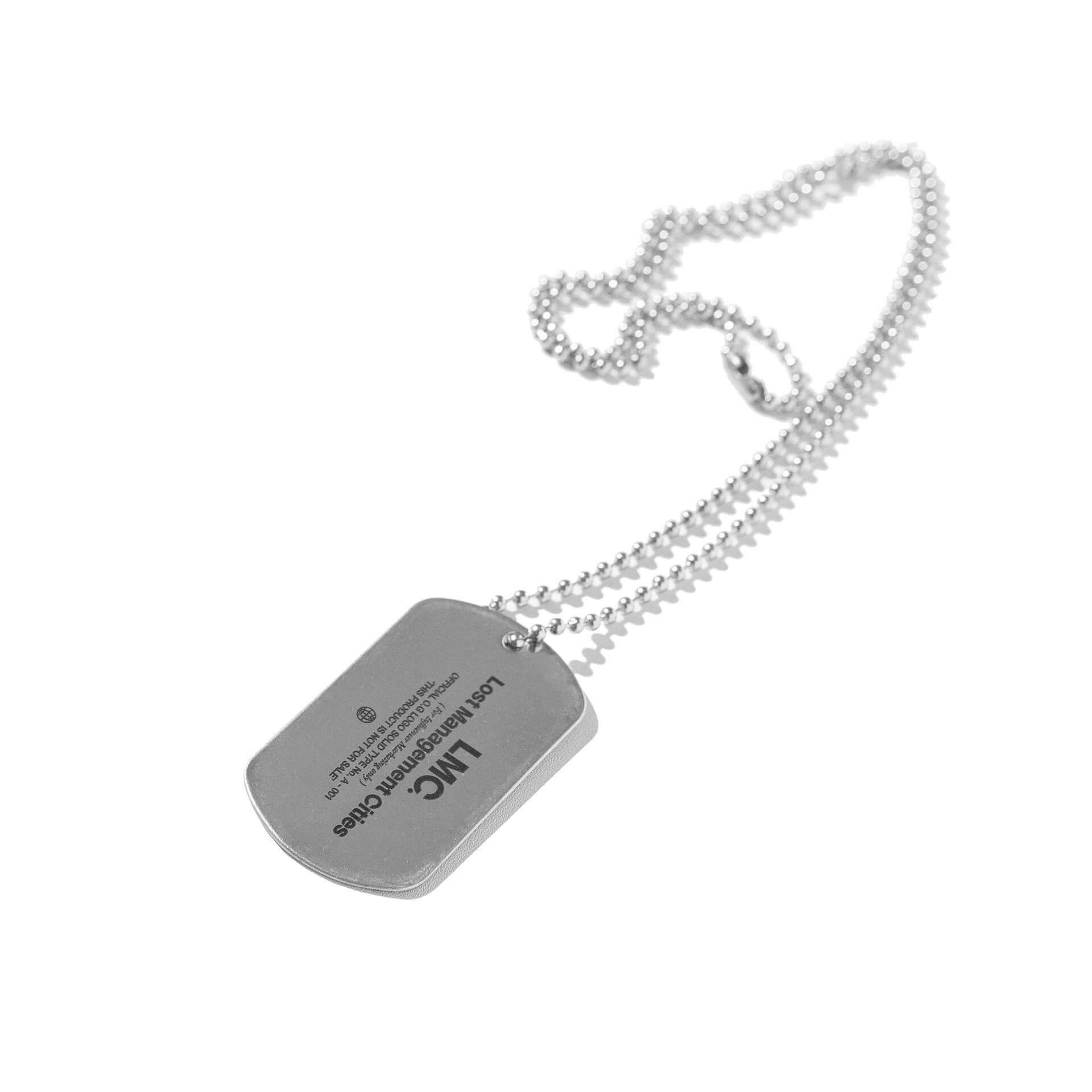 엘엠씨(LMC) LMC INFLUENCER DOG TAG REMADE BY LMC silver