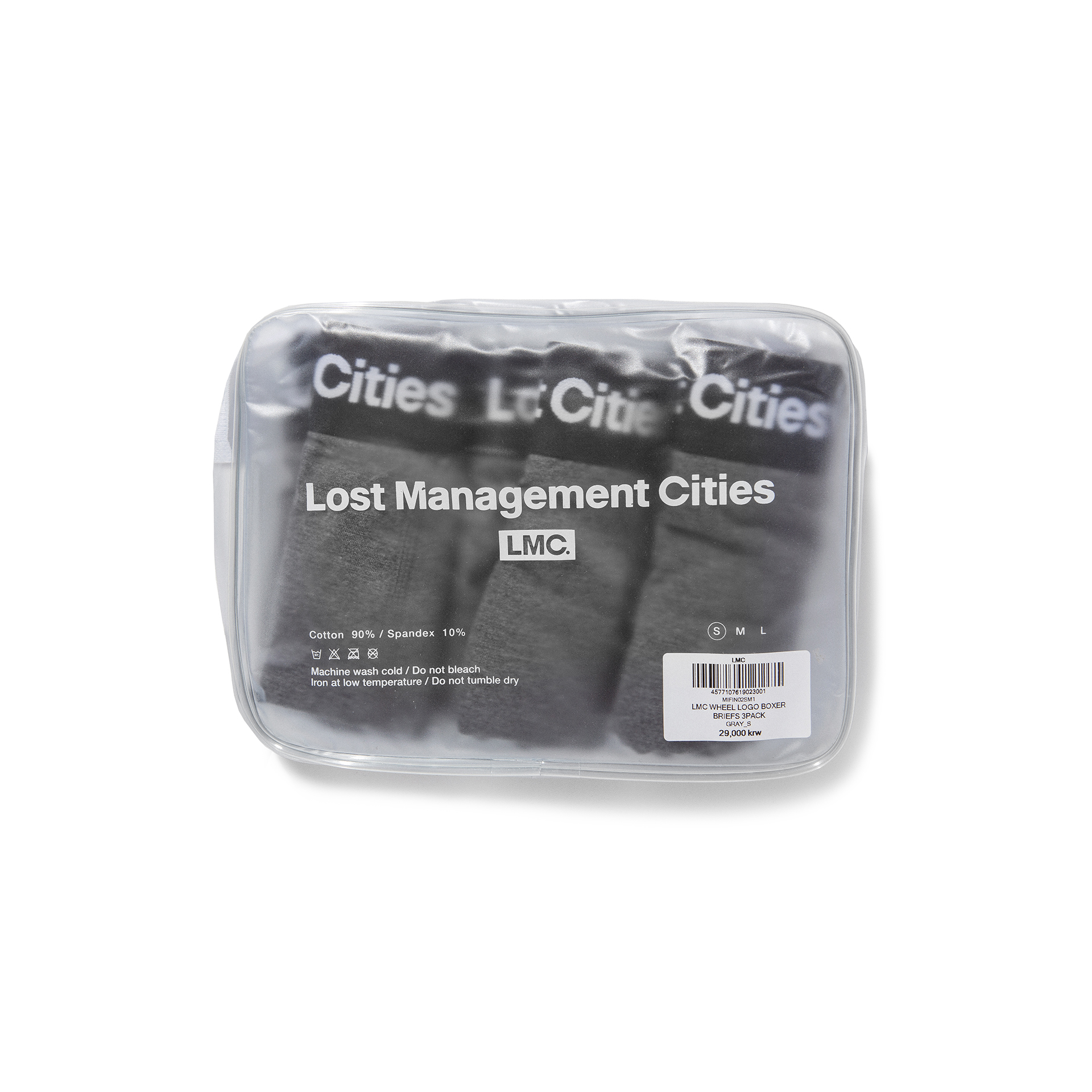 엘엠씨(LMC) LMC WHEEL LOGO BOXER BRIEFS 3PACK gray