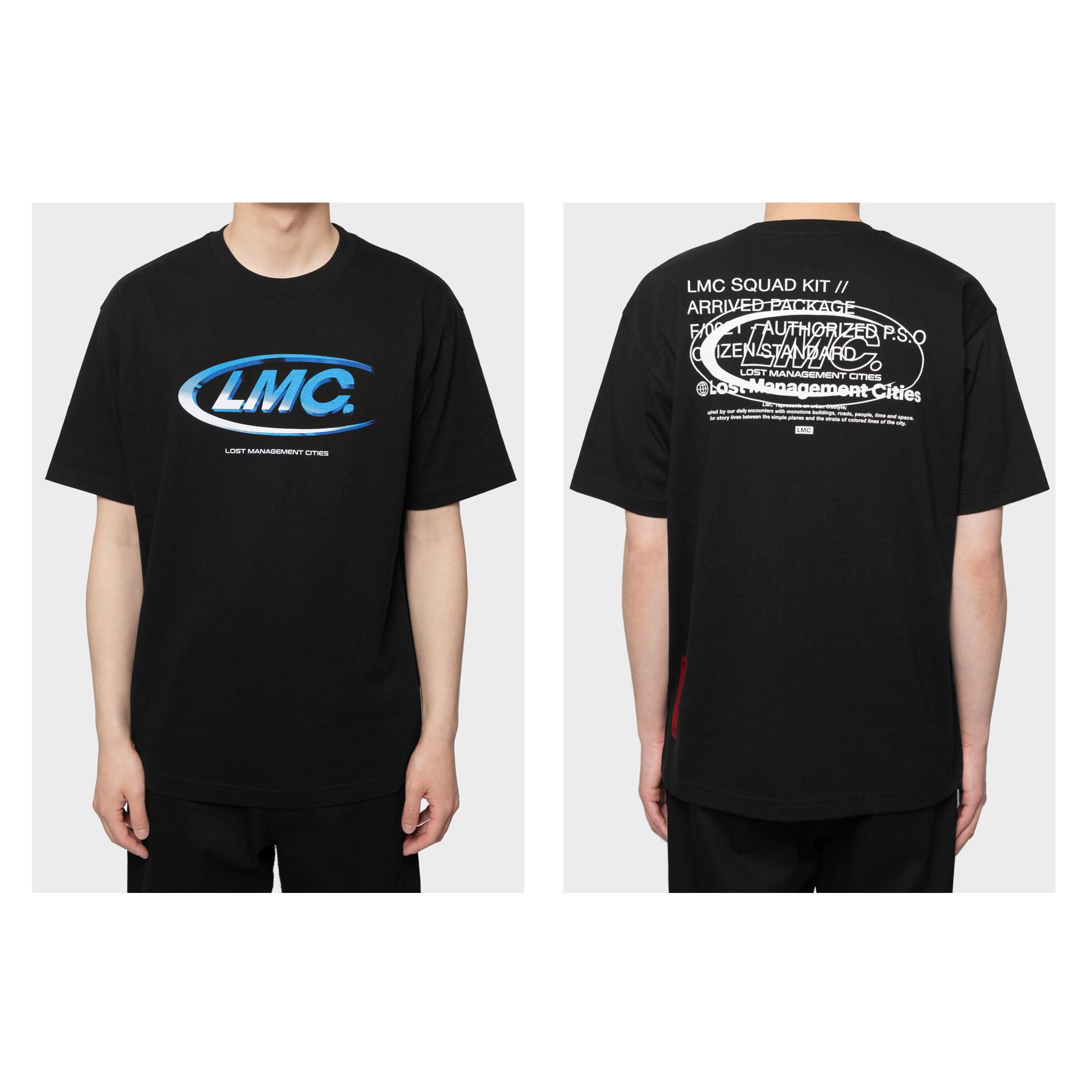 엘엠씨(LMC) LMC 5th ANNIV RETRO 3D CO TEE black