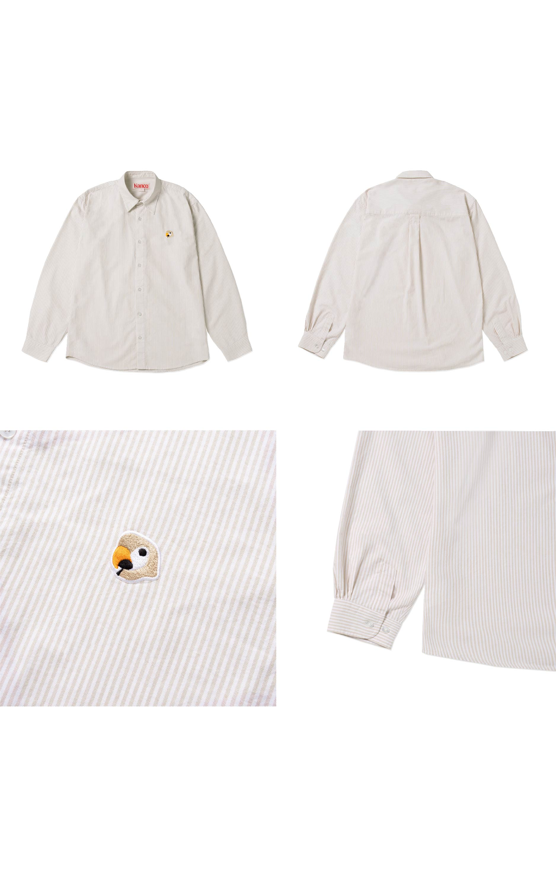 칸코(KANCO) KANCO LOGO OXFORD SHIRT beige