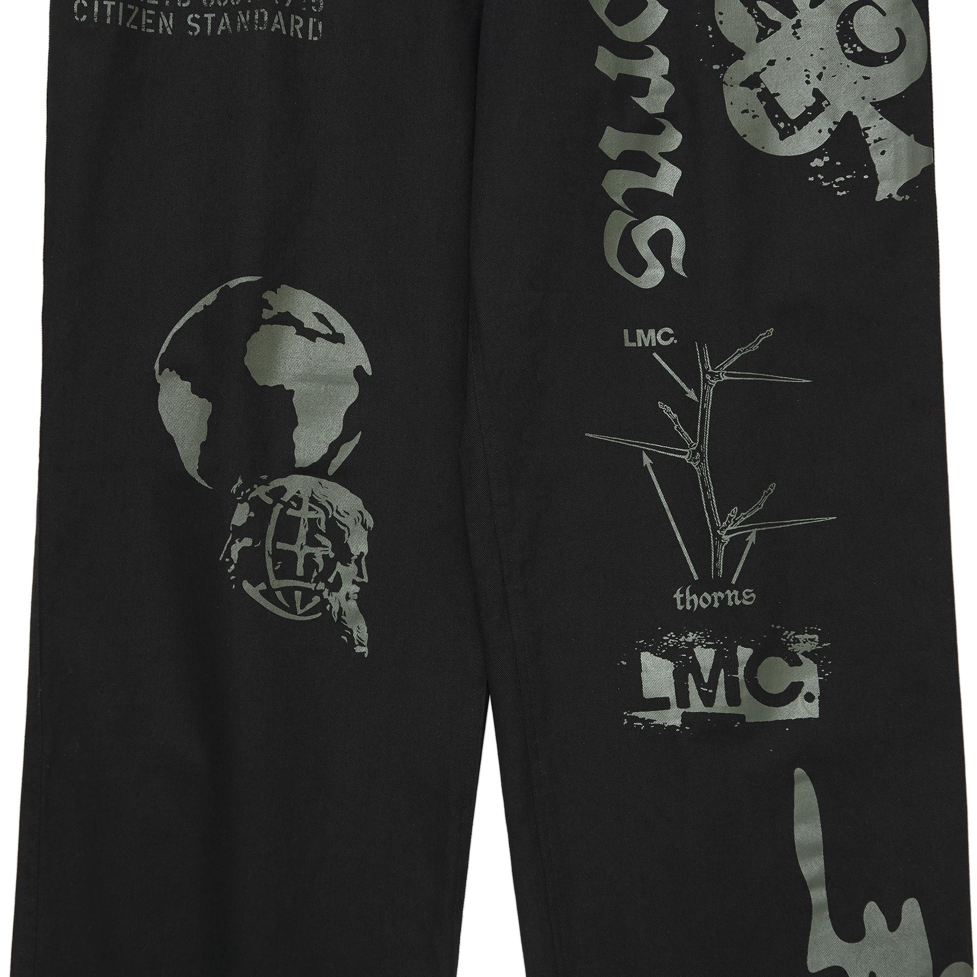 엘엠씨(LMC) LMC GRAPHIC PRINTED DESCRIPTION WORK PANTS black