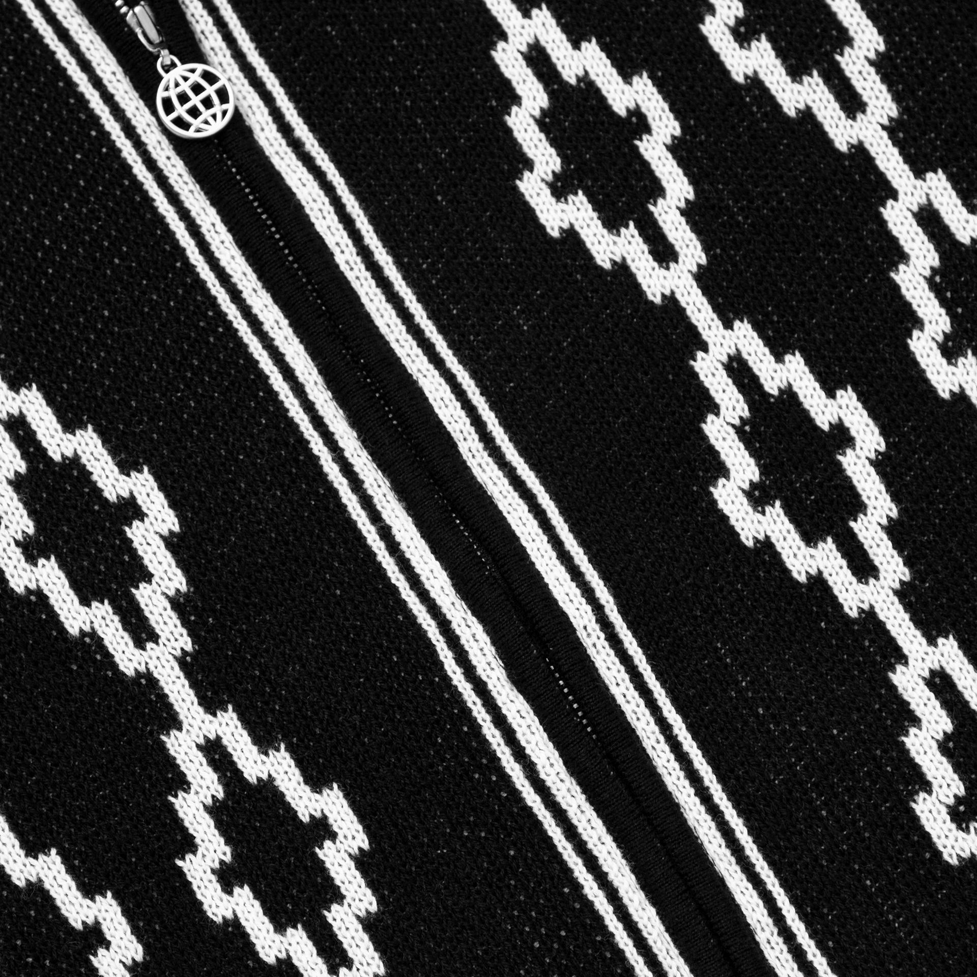 엘엠씨(LMC) LMC DIAMOND ZIP UP KNITTED POLO SHIRT black