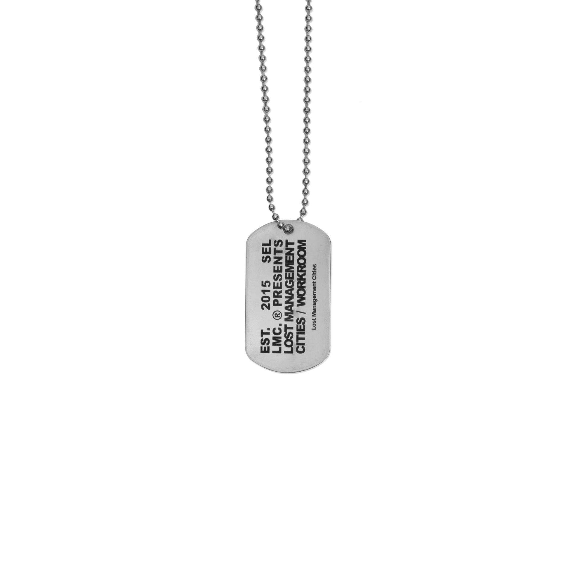 엘엠씨(LMC) LMC WORKROOM DOG TAG REMADE BY LMC silver